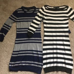 Bundle of 2 French Connection Fitted Knit Dresses